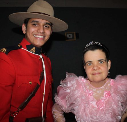 charlene with rcmp officer